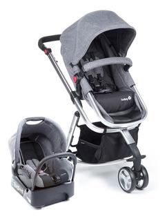 Carrinho Bebê Travel System Mobi Grey Denim Silver Safety1st