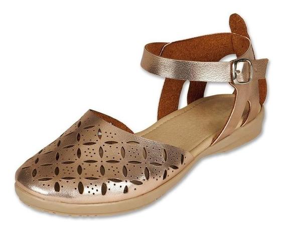 Calzado Juvenil Niña Zapato Sandalia Tipo Piel Rosado Comodo