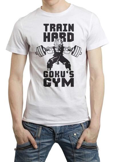 Dragon Ball Super Playera Gym Train Goku