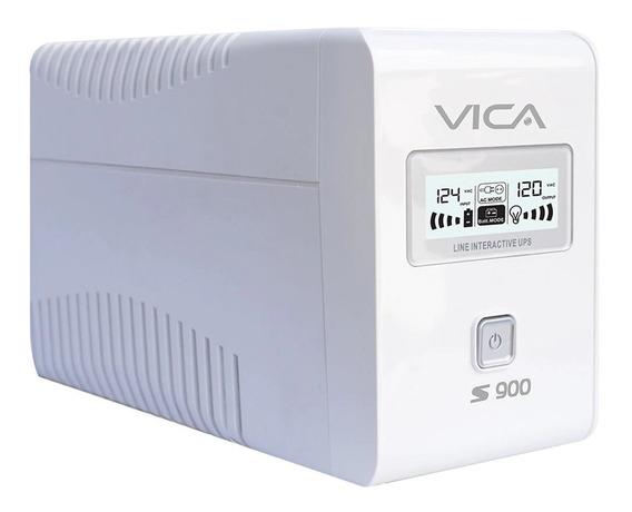 Nobreak Vica 900va/550w 6 Tomas Con Regulador Pantalla Lcd Y