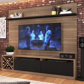 Estante Para Tv Até 50 2 Portas 2023 Mn/ptx Montana/preto