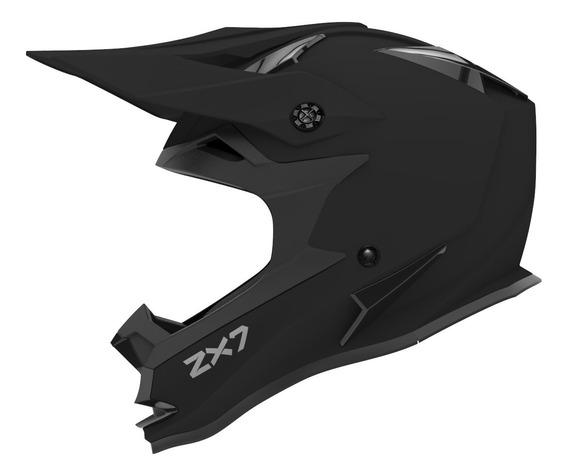Casco Moto Hawk Zx7 Mx Cross Enduro Negro Mate Oficial
