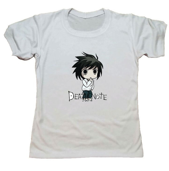 Remera Death Note Mod 13 Blanco Hotarucolections