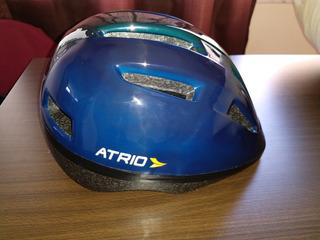 Capacete Bike Atrio Urban Azul 10 Furos Macio Ajust 54-58cm