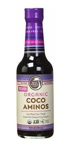 Árbol Grande Granjas Coco Salsa Aminos Condimentos, 10 Oz