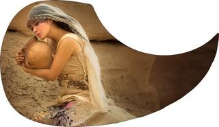 Escudo Palheteira Resinada Violão Aço Woman And Jar