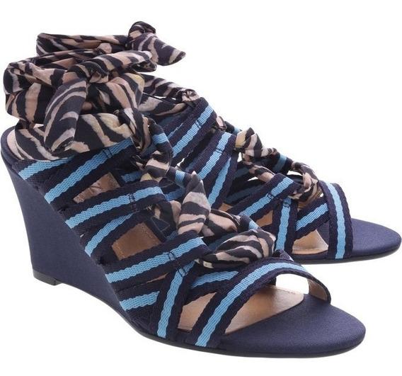 Sandália Schutz Anabela Multicolor Blue