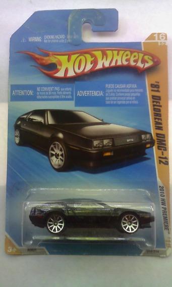 Carro Hotwheels Original Mattel 81 Delorean Dmc-12 (5verdes)