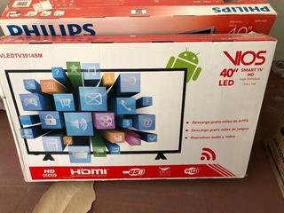 Televisor Vios 40 , Led, Smart Tv,1366x768, 16:9, Hdmi + Usb