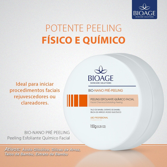 Pré Peeling C Clareador Esfoliante Fisico E Quimico Bioage