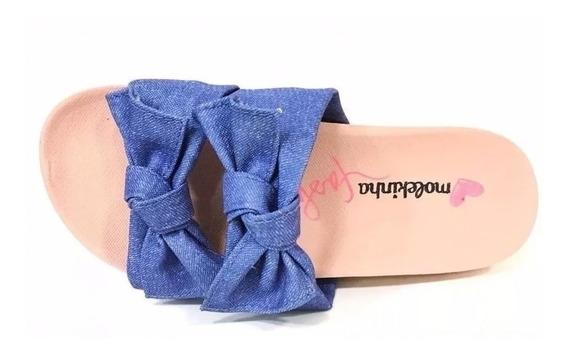 Tamanco Infantil Molekinha 2320306 Jeans Com Detalhe Top