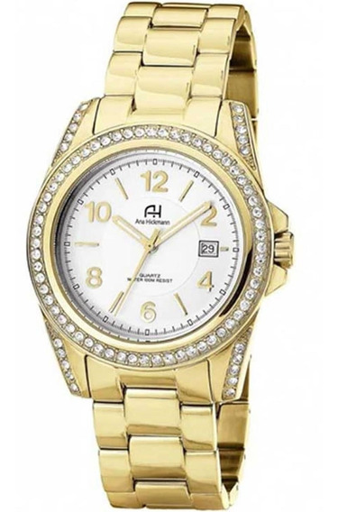 Relógio Feminino Ana Hickmann Ah20159h Dourado