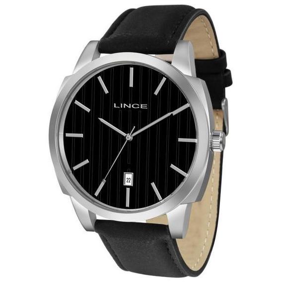 Relógio Masculino Pulseira De Couro Lince Mrc4461s P1px