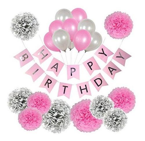 Decoraciones De Cumpleaños Para Mujeres Y Niñas, Decoraci