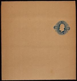Brasil 1867 40rs Azul Dom Pedro Il Inteiro Postal Altorelevo