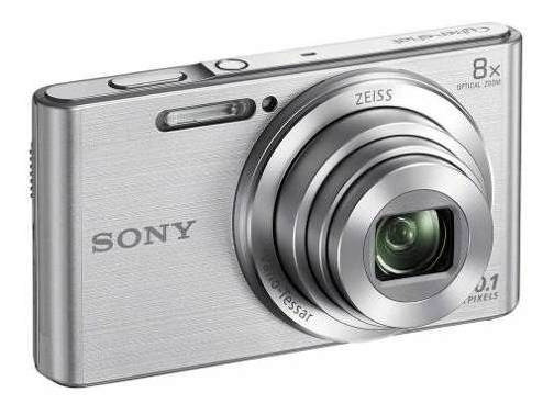 Camera Sony Dsc W830 Cyber Shot Prata + Nota Fiscal