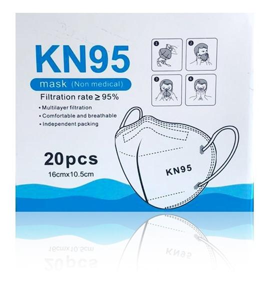 Cubrebocas Kn95 Con Ajustador Nasal (20 Piezas)