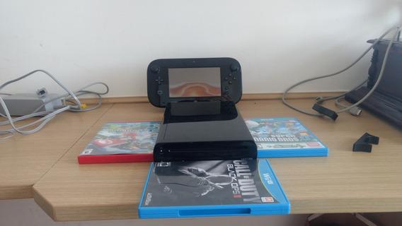 Wii U 32gb Completo Com 3 Jogos