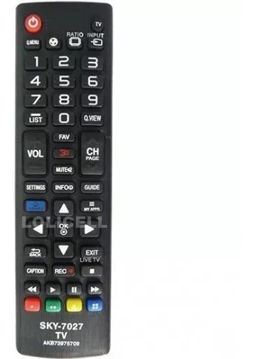 Controle Remoto Tv Lg Sky-7027 = Akb73975709 42 Led 42la6204