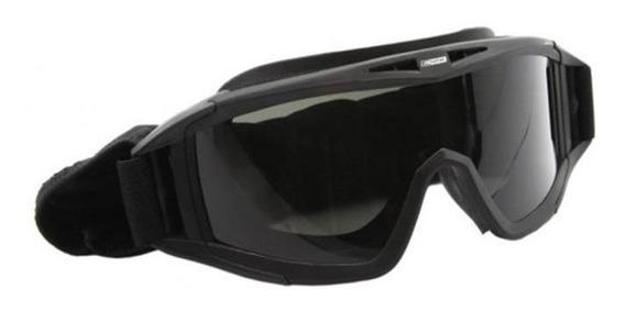 Oculos / Mascara Para Airsoft Preto Com 3 Lentes - Nautika.