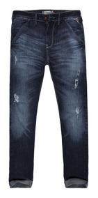 Calça Jeans Masculina Rasgada Bolso Faca