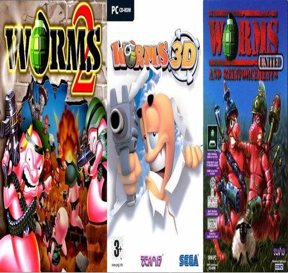 Worms Trilogia Pc Digital Completo