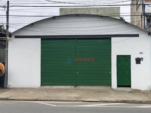Imagem 1 de 14 de Galpão À Venda, 470m² Por R$ 1.250.000 - Chácaras Reunidas - São José Dos Campos/sp - Ga0025