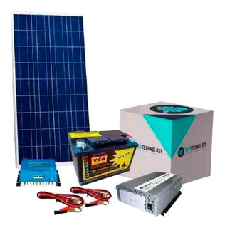 Kit Solar Con Inversor De 1000 Watts 220 V + 2 Panel De 160 W + 2 Batería De 110 Ah Casa De Campo Autonomía Envió Gratis
