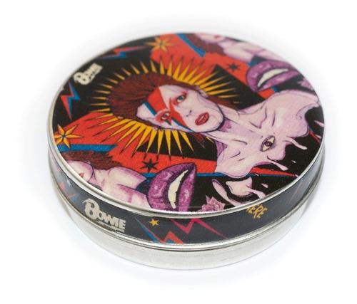 Imagen 1 de 3 de Pastillero Metálico Multiuso Lata David Bowie