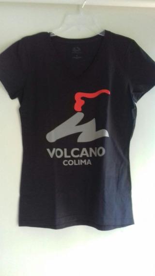 Playera Volcanica Dama/caballero. Volcan Volcano Colima