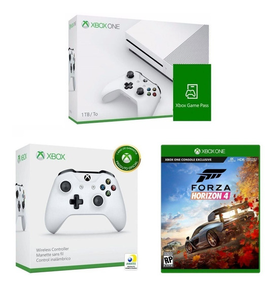 Console Xbox One 1tb+ Game Pass + Controle + Forza Horizon 4