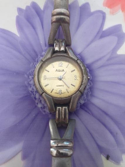 Relógio De Pulso Antigo Feminino Aqua Quartz