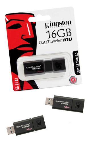 Kit 3 Pendrives Kingston 16gb Datatraveler  Usb 3.1/3.0/2.0