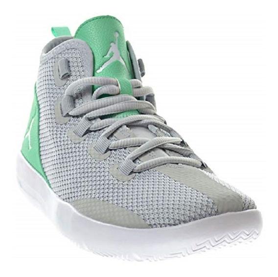 Original Tenis Mujer Nike Jordan Reveal Junior Gray Green Ña