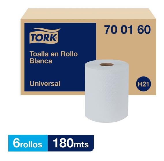 Tork Toalla En Rollo Blanca Universal Hs 6 Rollos / 180 Mts