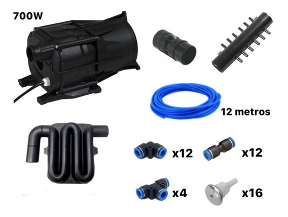 Air Blower - Kit 700w/220v Completo 16 Bicos