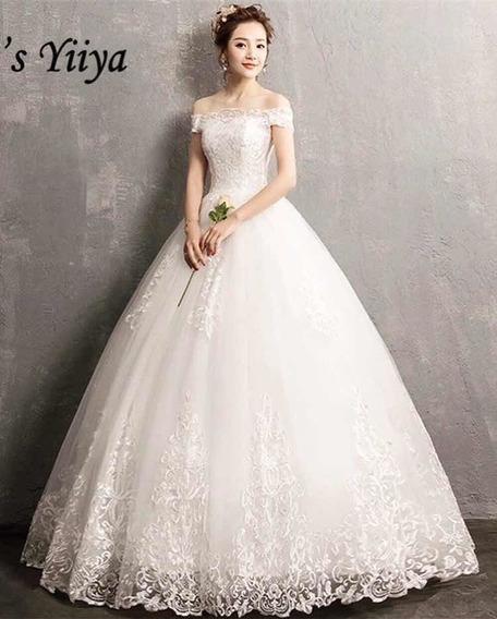 Vestido De Noiva Princesa + Saiote De Armação