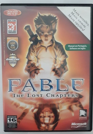 Jogo Original Pc - Fable - The Lost Chapters - 4 Mídias
