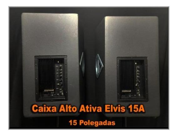 Par Caixas Ativas Alto Elvis 15a ( Usa) Marca Americana