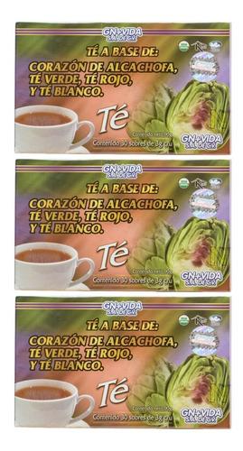 Imagen 1 de 6 de (3 Piezas) Té Alcachofa (30 Sobres) Gn+vida