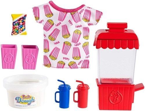 Imagem 1 de 6 de Pacote Acessórios Barbie Cozinhar E Assar Tema Pipoca Top