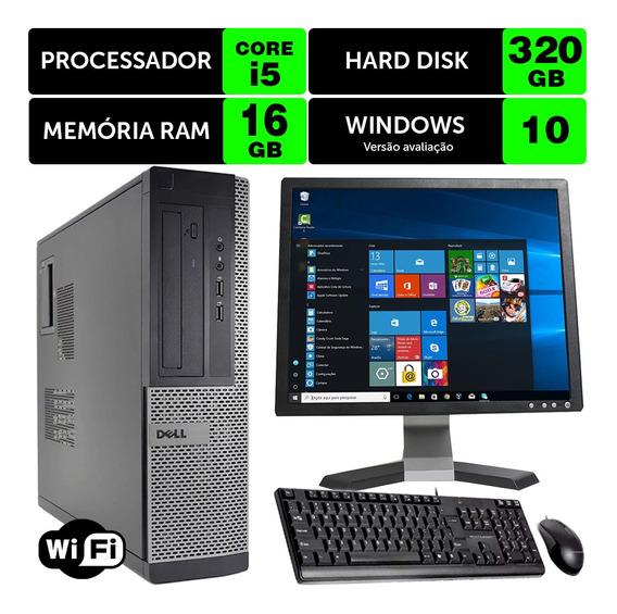 Desktop Usado Dell Optiplex Int I5 2g 16gb 320gb Mon17q