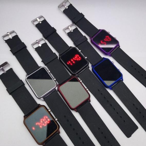 Relógios Digital Silicone Quadrado Sem Caixa - 15 Unidades