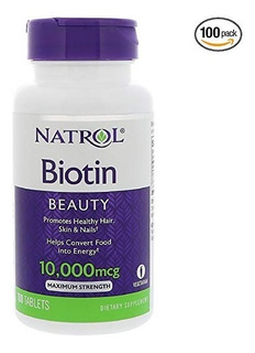 Biotin Biotina 10000 Mcg De 100 Pastilla Al Por Mayor