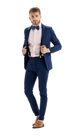 Zapatos Hombre Cuero Con Saco Y Pantalon Chupin Import
