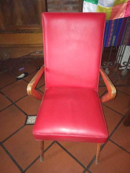Sillón Silla Americano Escandinavo 1 Cuerpo Rojo Muy Bueno