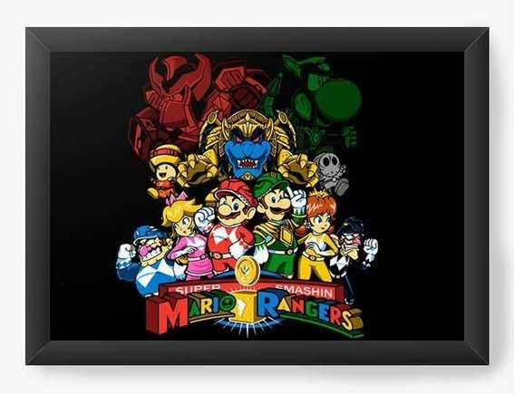 Quadro Decorativo Geekz Super Mario Rangers