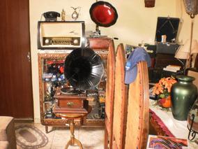 Gramofone Lindo,antigo E Funcionando