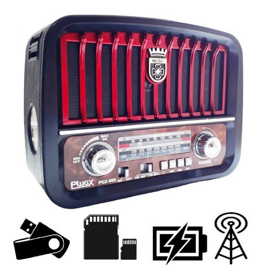Radio Retro Vintage Classico Am Fm 3 Faixas Usb Pendrive Aux