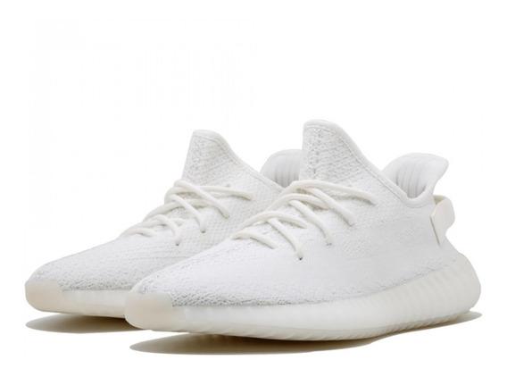 Tenis adidas Yeezy Boost Clásicos Blancos Unisex.